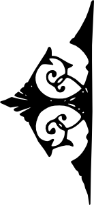 free vector Ornimental Bookend Right clip art