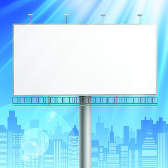 free vector Outdoor advertising billboard model 03 vector