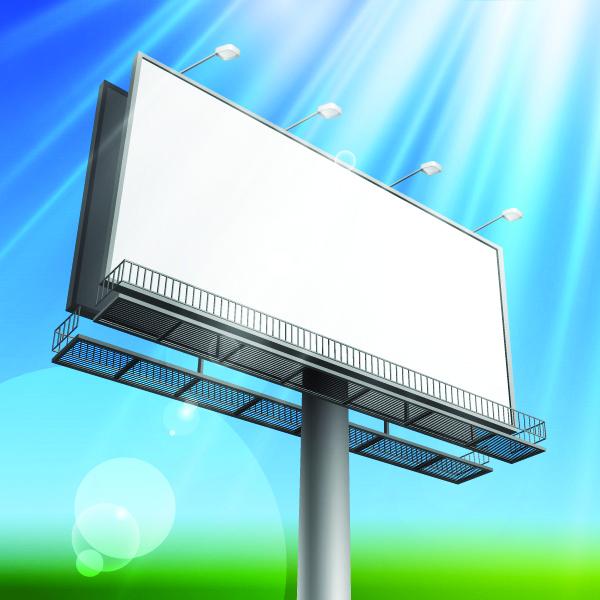 free vector Outdoor advertising billboard model 04 vector