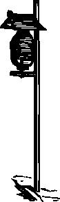 free vector Outdoor Garden Anitque Gas Light clip art