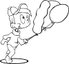free vector Outline Boy Running clip art