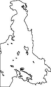 free vector Outline Map Of Victoria Bc Canada Saanich Peninsula clip art