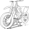free vector Outline Motorcycle Lift clip art