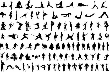 free vector Over 120 Free Vector Body Silhouettes