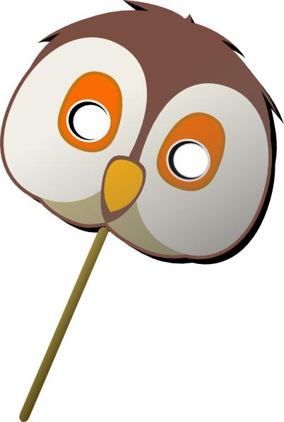 free vector Owl Mask clip art