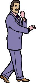 free vector Packardjennings Karate Guy In A Fashionable Purple Suit W Gloves clip art