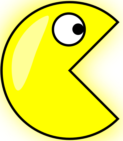 Pin Pac Man Black White Clipart Cliparthut Free On