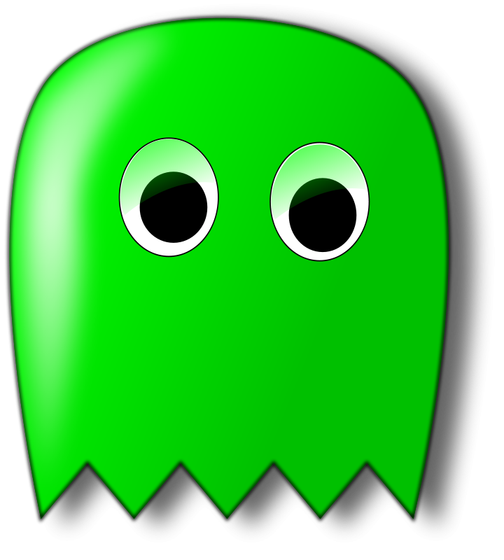 free vector Pacman ghost