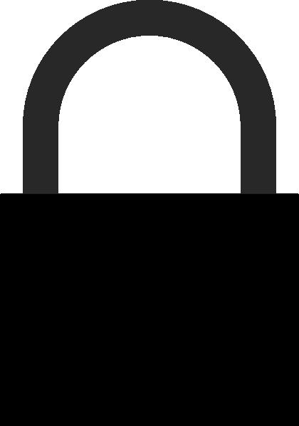free vector Padlock_silhouette clip art