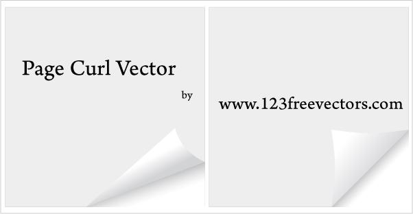 free vector Page Curl Vector