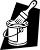 free vector Paint And Brush clip art