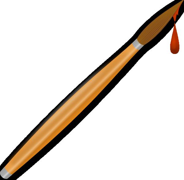 free vector Paint Brush Drops clip art