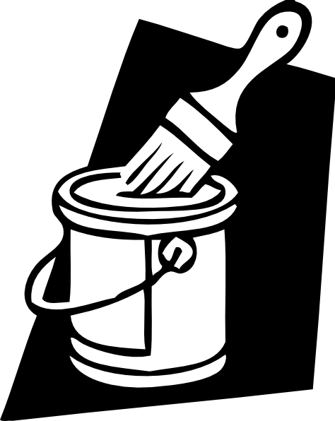 free vector Paint Can And Brush clip art