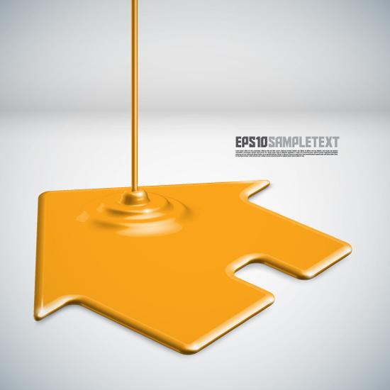 free vector Paint drip shape design background vector 3