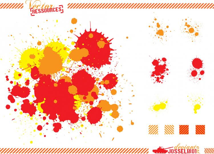 free vector Paint Splashes