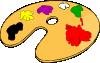 free vector Painter Color Palette clip art
