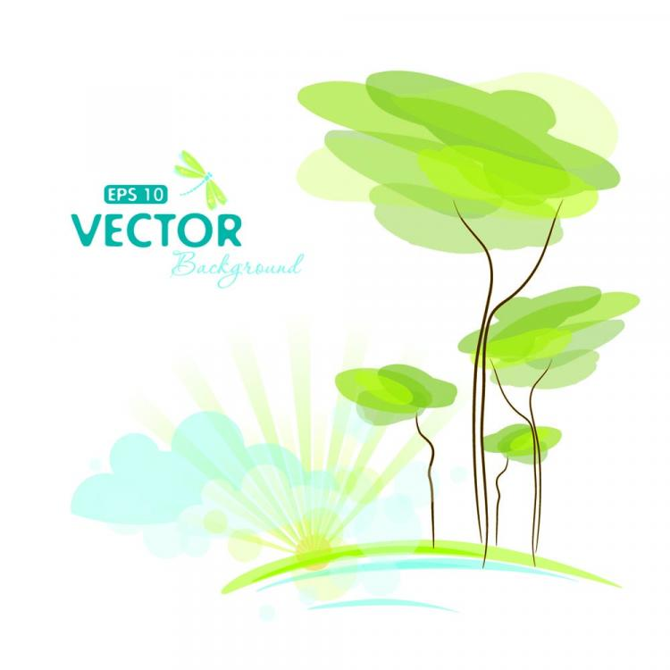 free vector Pale cartoon background 02 vector