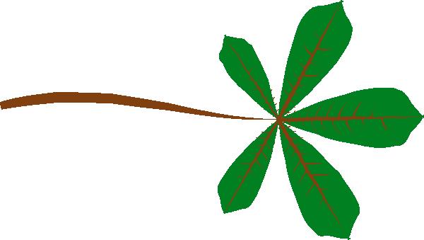 free vector Palmate Leaf Lobed clip art