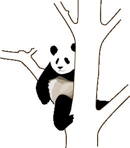 free vector Panda On A Tree clip art
