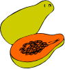 free vector Papaya clip art