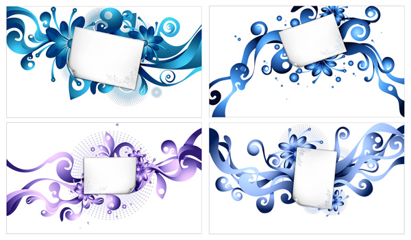 free vector Paper and the trend pattern element vector