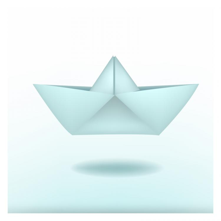 free vector Paper boat