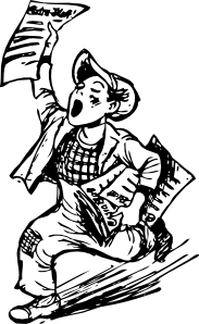 free vector Paper Boy clip art