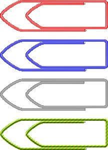 Paper Clips clip art Free Vector / 4Vector