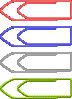 free vector Paper Clips clip art