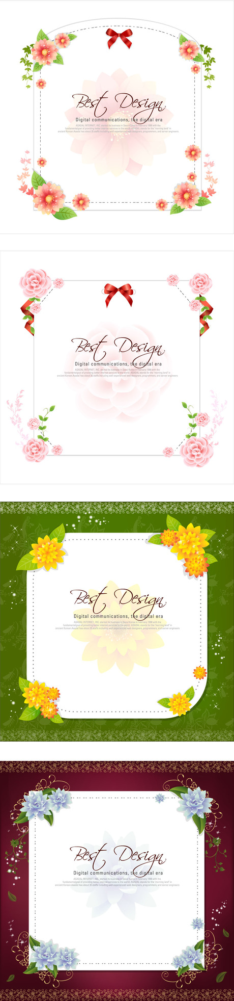 free vector Paper flowers bow vector
