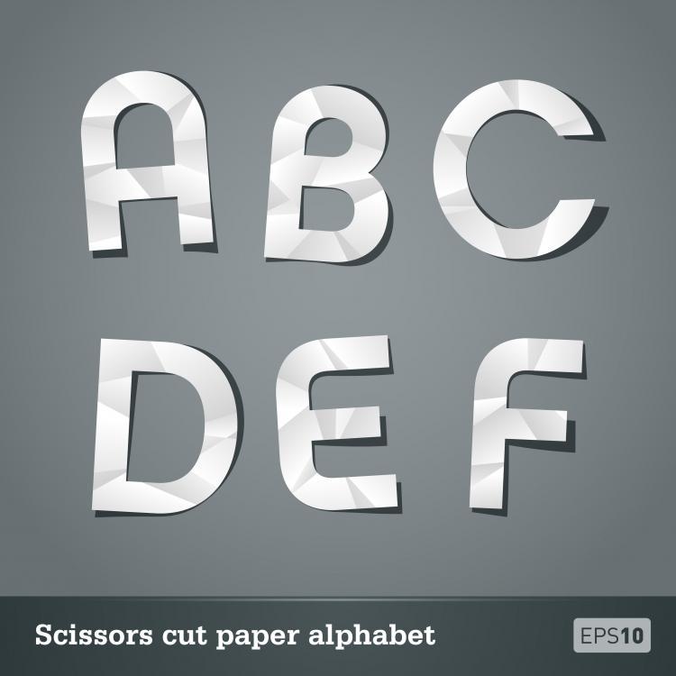 free vector Papercut letters 01 vector