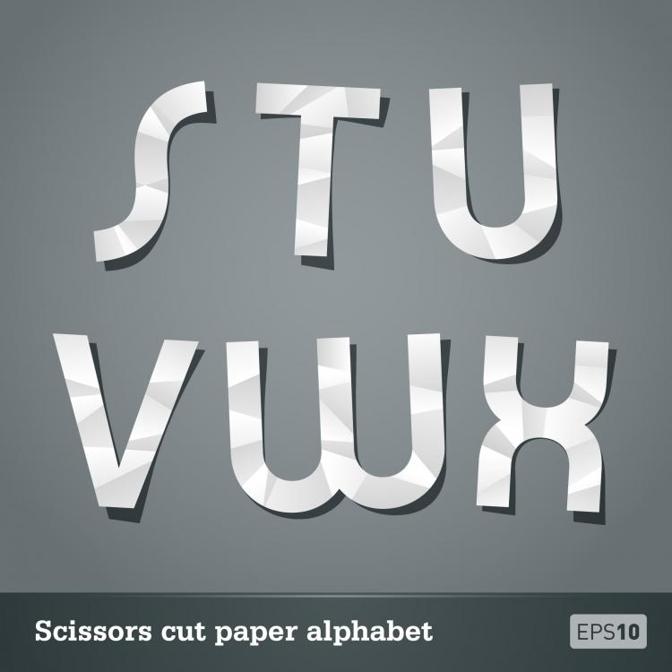 free vector Papercut letters 03 vector