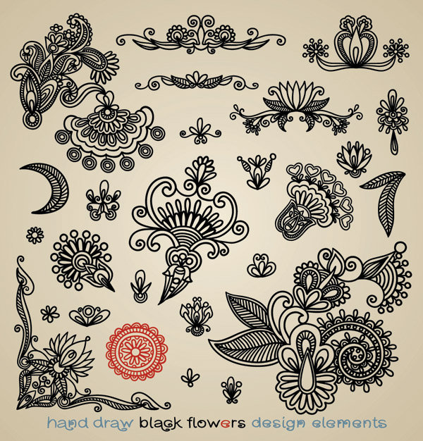free vector Papercut style of classical pattern vector 1