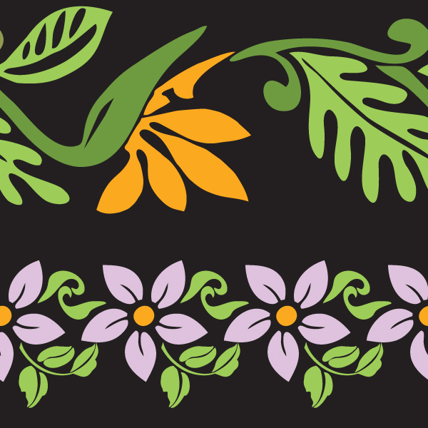 free vector  Paradise Found Pattern