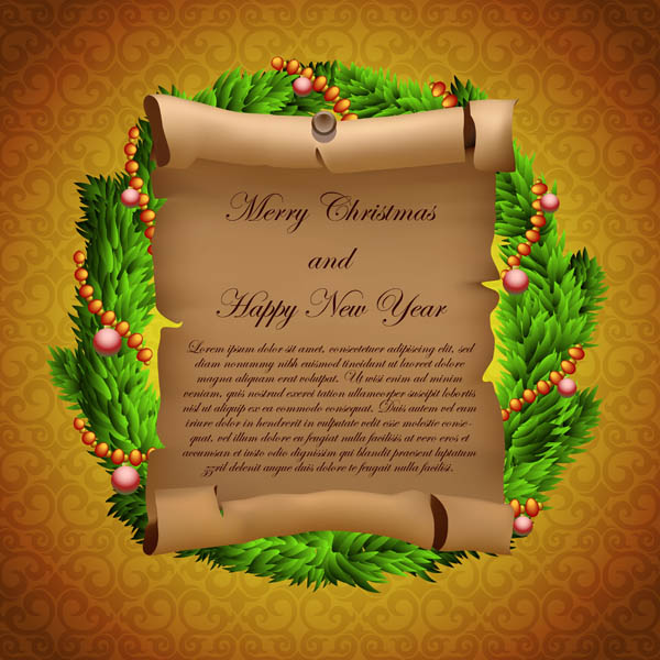 free vector Parchment greeting cards and gifts vector