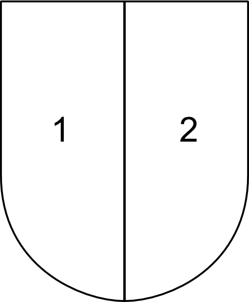 free vector Partitioned Shield clip art