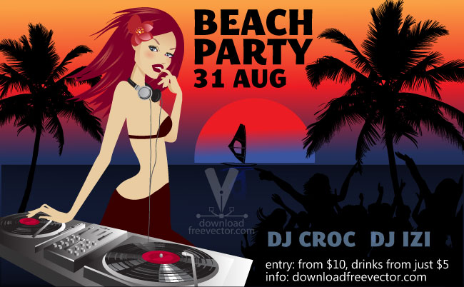 free vector Party Flyer Template