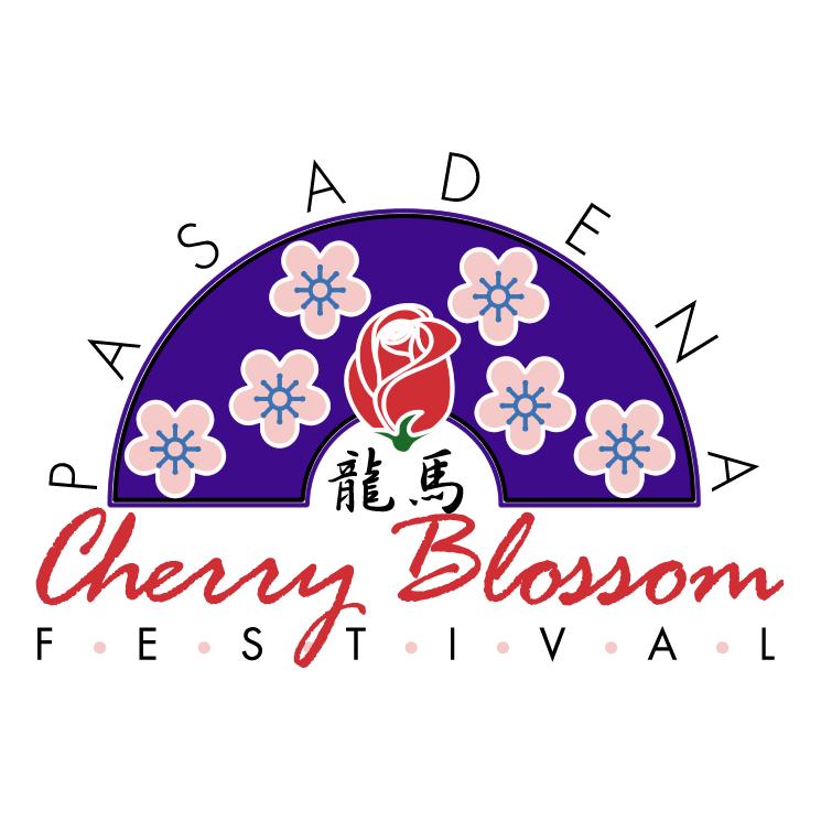 free vector Pasadena cherry blossom festival