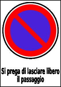 free vector Passo Carrabile clip art