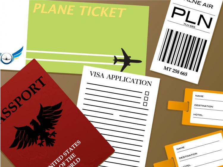 free vector Passport documents vector