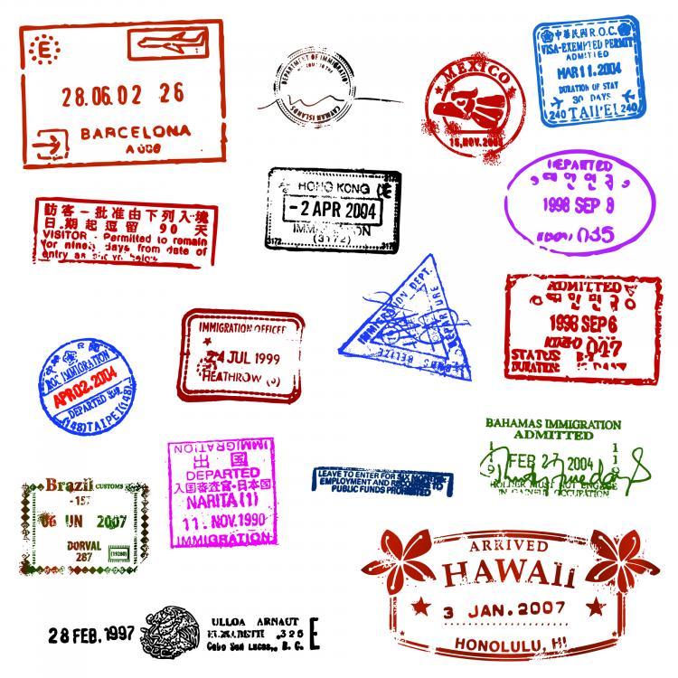 free vector Passport stamp seal 01 vector