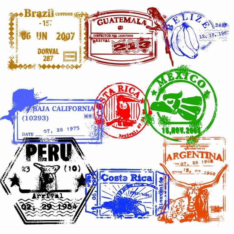free vector Passport stamp seal 02 vector