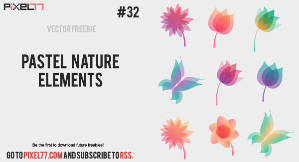 free vector Pastel nature elements
