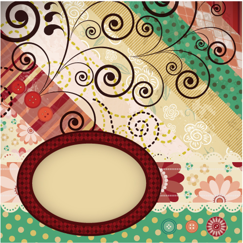 free vector Patchwork pattern background 02 vector