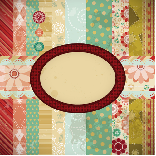 free vector Patchwork pattern background 05 vector