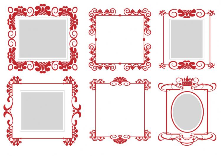 free vector Pattern frame 01 vector