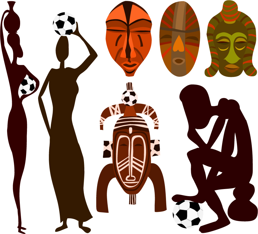 free vector Pattern vector of african football