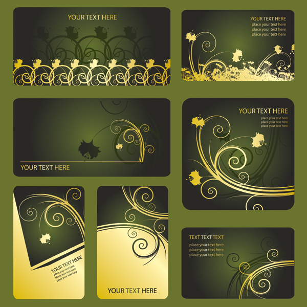 Patterns card template vector Free Vector / 4Vector