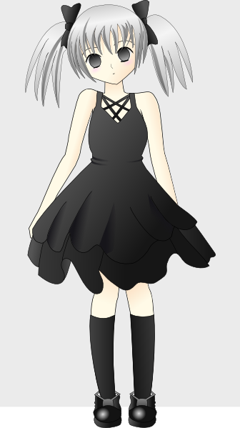 free vector Paulliu Girl With Silver Hair clip art