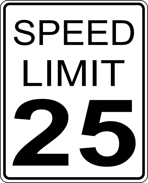 free vector Paulprogrammer Ca Speed Limit Roadsign clip art